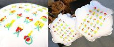 Pumpa Designin tyyny #kierrätysmateriaali #aakkoset #alphabets #pillow #kidsroom #decoration