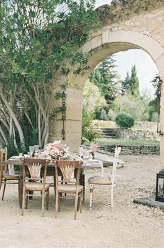 Destination wedding in Provence, with rustic styling Photography: Cat Hepple | Styling: French Wedding Style | Venue: Belfonds Read More: http://www.stylemepretty.com/little-black-book-blog/2014/12/18/romantic-provencal-fig-berry-wedding-inspiration/