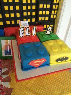 Lego Superheroes cake for Eli's 2nd birthday
