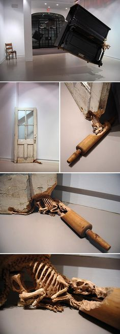 Spectacular sculptural wood carving work by Maskull Laserre…