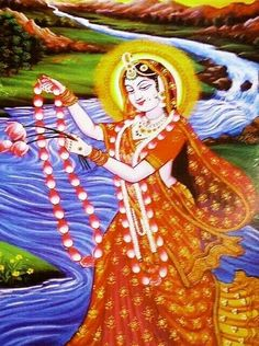 Yamunaji for Shreenathji Krishna Hindu, Krishna Leela, Jai Shree Krishna, Radha Krishna Photo, Krishna Photos, Krishna Radha, Lord Krishna, Shiva, Pichwai Paintings