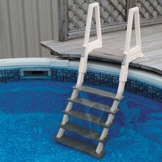 Confer Heavy Duty Above Ground Swimming Pool Ladder 46 56 Inches Gray 6000b Pool Ladder Above Ground Pool Ladders Above Ground Swimming Pools