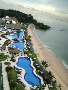 Westin playa bonita, Panama. Beautiful resort. You can see the ships in the background lined up to go through the Panama Canal.