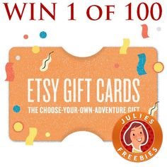 Enter to Win 1 of 100 Etsy Gift Cards
