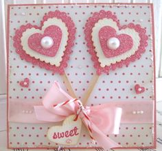 VSROSES - One of a kind hand made paper crafts~via The Roseberry Cottage Valentine Love Cards, Valentine Crafts, Valentine Cupcakes, Heart Cupcakes, Pink Cupcakes, Candy Cards, Heart Cards, Kids Cards, Creative Cards