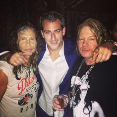Steven Tyler, Axl Rose and Mark Birnbaum at Catch in New York City