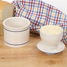 Ancient-Style Butter Crock.  Our ceramic butter crocks keep butter soft and fresh for up to 30 days. Simply pack the bowl with ½ cup of butter, fill the crock 1/4 full of cold water, and turn bowl upside down into water. Water forms tight seal to keep butter fresh. To serve, lift bowl out of crock and turn right side up again. Similar to centuries-old French butter storage system.