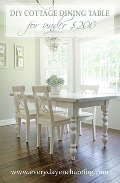 Picnic Table To DIY Cottage Dining Table Tutorial. Diy Dining Room  TableWhite ...