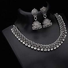 Antique Jewellery Designs, Fancy Jewellery, Gold Jewellery Design, Stylish Jewelry, Fashion Jewelry, Handmade Jewellery, Indian Jewelry Sets, Silver Jewellery Indian, Silver Jewelry