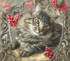 Cats by Artist Dianne Woods.     For more great pins go to @KaseyBelleFox