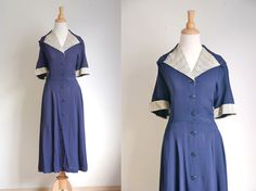 Vintage 1940s Novelty Dress Rayon Crepe - Over the Rainbow