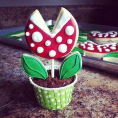 Imagen de cookies, plants, mario bros,game and cupcake