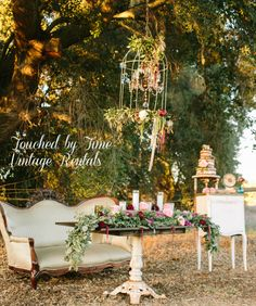 Sweethearts Table Touched by Time Vintage Rentals at Owl Creek Farms Temecula https://www.facebook.com/TouchedByTimeVintageRentals