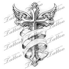 cross tattoos for men and their meanings banners arms and tattoo rh pinterest com pics of cross tattoos with banners cross tattoos with banners and wings