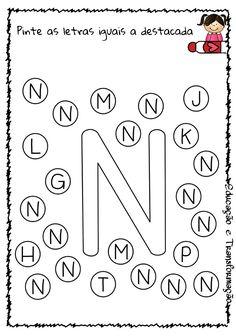 Blog Educação e Transformação: 👍 Alfabeto: pintando as letras Alphabet Tracing Worksheets, Alphabet Activities, Preschool Worksheets, Toddler Activities, Preschool Activities, Home Teaching, Homeschool Preschool Curriculum, Bingo, Kids Schedule