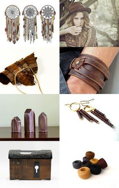 #men #travel #vintage #hat #bracelet #brown #etsy #handmade #dreamcatcher #leather