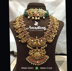 Saved by radha reddy garisa Antique Jewellery Designs, Beaded Jewelry Designs, Gold Jewellery Design, Jewelry Patterns, Necklace Designs, Antique Jewelry, Gold Temple Jewellery, India Jewelry, Gold Jewelry