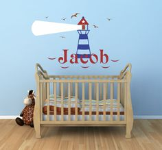 Lighthouse Wall Decal Personalized Lighthouse Decal von SignJunkies
