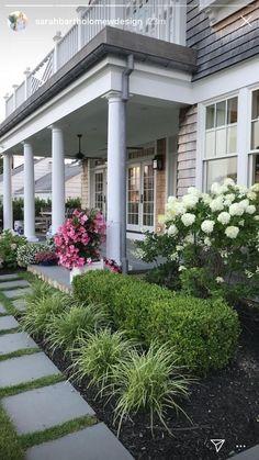 Porch Landscaping, Front Yard Landscaping Design, Landscape Ideas Front Yard Curb Appeal, Modern Garden, Front House Landscaping