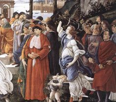 Sandro Botticelli, Three Temptations of Christ, 1481-82, fresco, 345 x 555 cm, Cappella Sistina, Vatican