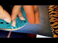 zapato tejido parte 2/2 - YouTube