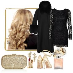 Blonde girl by milkalilien on Polyvore featuring Elie Saab, Balmain, Anya Hindmarch, Bar III, Kate Spade, Michael Kors, Burberry and Chanel