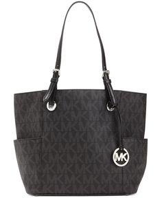 I want this so bad. MICHAEL Michael Kors Handbag, Signature Tote - Shop All Michael Kors Handbags & Accessories - Handbags & Accessories - Macy's