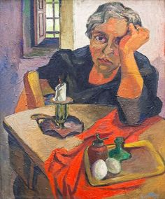 Renato Guttuso (Italy 1911-1987), Portrait of the artist's mother, oil on canvas, 1939-1940. National Gallery of Modern Art, Rome.