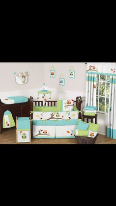 Owl nursery set <3