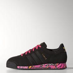 Adidas Originals  mujer 's Samoa Flower Print Retro zapatilla negro / F