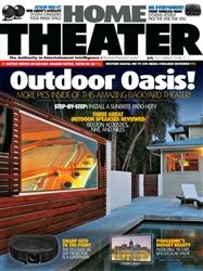 Home Theater Magazine July 2012 Tech Magazines, Science Magazine, Audio Equipment, Home Theater, Oasis, 1 Year, Outdoor Decor, Modern, Fun