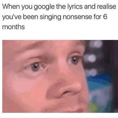 I do this a lot, mostly because my songs aren't in English, and are instead Japanese, Finnish, Norwegian, Russian, etc. It can be quite difficult to figure out what they're saying. And I'll just guess what they're saying, and later I'll figure out I was COMPLETELY wrong.