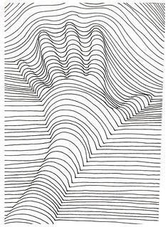 Pin for Later: 50 Printable Adult Coloring Pages That Will Make You Feel Like a Kid Again Get the coloring page: Hand lines Supplies Tutorial Art Drawing Op Art, Art Drawings, Drawings, Line Art, Hand Lines, Art, Illusion Art, Coloring Pages, Op Art Lessons