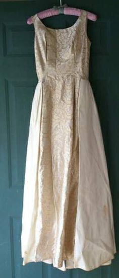 5d4db50a7118 Vintage 1960's Mike Benet formal gown Formal Gowns, 1960s, Wedding Gowns, Formal  Dresses