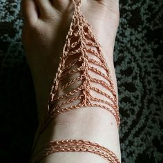 V stitch Barefoot Sandals Handmade by me (Nicole.) Crocheted with 100% cotton. Simple and elegant, trendy design. Great for a beach wedding, to dress up your heels /flipflops, or just going barefoot. Wear as an anklet, tie up leg or wear on hand. Versatile, unique and on trend. Comment color for new listing. Shown in rusty peach. Accessories