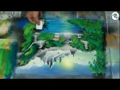 i really want to try and see if i can do this type of painting one day :) Spray Paint Art - Landscape