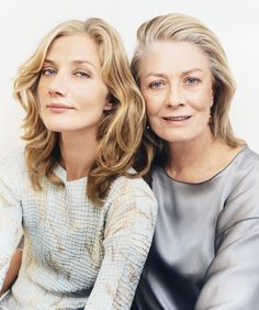 """Joely Richardson and Vanessa Redgrave: Beautiful and talented generations. Loved them both as Queen Elizabeth I in """"Anonymous""""."""