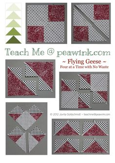 flying geese x4 | Full tutorial at Teach Me @ peawink dot co… | Jovita's Patchwork Atelier | Flickr