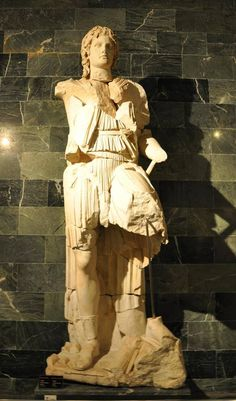 Statue of Alexander the Great. This marble statue of Alexander the Great was found in the area of the theatre in Perge. It dates back to the Roman period.Antalya Archaeological Museum