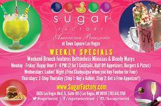 2 for 1 cocktails!   Sugar Factory Las Vegas