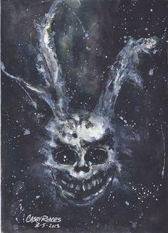 Donny Darko by CaseyJRhodesArt on Etsy, $35.00 Horror Masks, Horror Art, Donnie Darko, Film Inspiration, American Horror Story, Movies Showing, Design Crafts, Dark Art, Art Inspo