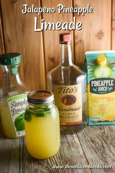 Vodka is the perfect complement to the combination of pineapple, lime and jalapeno. This refreshing Jalapeno Pineapple Limeade cocktail will become your favorite for any night of the week. Vodka Cocktails, Summer Cocktails, Cocktail Drinks, Cocktail Recipes, Drink Recipes, Margarita Recipes, Party Drinks, Fun Drinks, Alcoholic Drinks