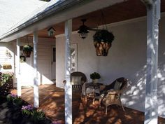 replacing wrought iron porch with woo d columns