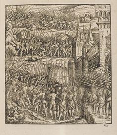 Battle of Pavia Medieval Castle, Medieval Art, Renaissance Art, Landsknecht, Illustration Art, Illustrations, Jokers, Illuminated Manuscript, 16th Century