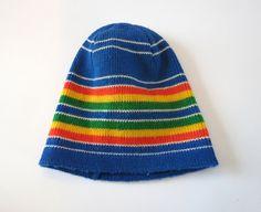 fb9645010af Rainbow Beanie Vintage 70s Beanie Rainbow Knit Hat Wigwam Beanie Snowboard  Ski Beanie Hat 1970s Beanie Pride LGBT Wool Warm Winter Hat. Christmas Fun Best ...