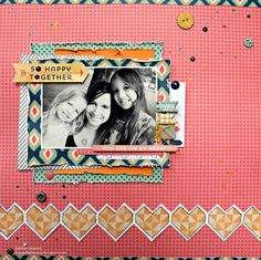 So Happy Together Scrapbook Layout by Heather Leopard #scrapbooking #scrapbook Gossamer Blue #gossamerblue