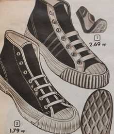 """1953 Aldens version of a Converse """"Chucks"""" All Star Sneaker 1950s Mens Shoes, 1950s Casual Clothing, Mens Clothing Styles, Men's Clothing, Converse Chucks, Converse Style, Teen Jungs Outfits, 1950s Fashion Menswear, Saddle Shoes"""