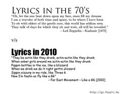 #Lyrics then and now.This isn't depressing at all...