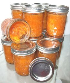 Peach Jam 20 ripe peaches, 15 jars of heavenly yummieness.