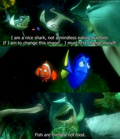 1000 images about ellen 39 s dory on pinterest finding for Fish are friends not food